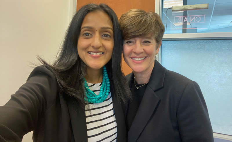 Vanita Gupta and Gina Dalma