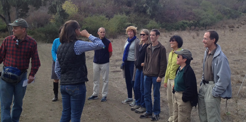 Members of the Donor Circle for the Environment enjoy a tour of Hidden Villa in Los Altos.