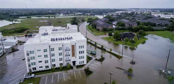 Hurricane Harvey devastated Houston in 2017. Southwest Airlines worked with SVCF to raise funds for affected employees in the city.