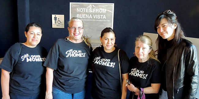 Buena Vista Mobile Home Park Residents And Board Directors Left To Right Maria Martinez Melodie Cheney Erika Escalante Mary Kear With Filmmaker