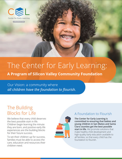 The Center for Early Learning: A Program of Silicon Valley Community Foundation