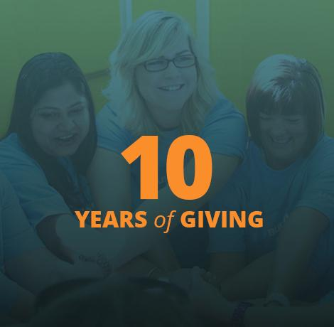 10 Years of Giving